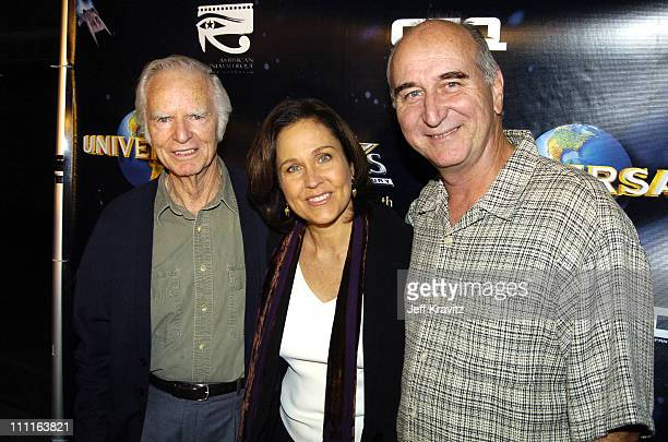 Tim O'Connor Erin Gray and Eric Server during 25th Anniversary Cast and Crew Reunion of Buck Rogers In The 25th Century at Egyptian Theatre in Los...