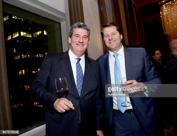 Tim O'Hara and Dean Flannigan attend Launch Of New Entity Withers Global Advisors at 432 Park Avenue on April 3 2018 in New York City Tim O'HaraDean...