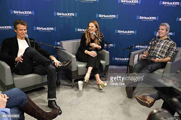 Tim Olyphant and Drew Barrymore interviewed for SiriusXM's Town Hall to air on Andy Cohen's Exclusive SiriusXM Channel Radio Andy on January 27 2017...