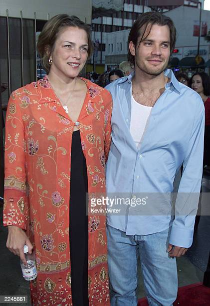 Tim Olyphant and wife Alexis at the premiere of 'The Broken Hearts Club' in Los Angeles Ca on 7/17/2000Photo Kevin Winter/ImageDirect