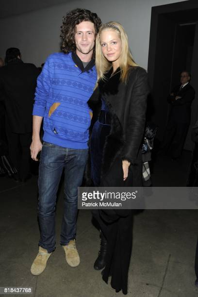 Tim O'Malley and Erin Heatherton attend MILK Gallery Photography Exhibition Book Launch for No 3 from the Saguaro Series with photographs by JAMES...