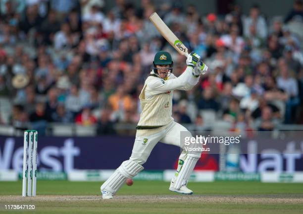 Tim Paine of Australia batting during day two of the 4th Specsavers Ashes Test at Emirates Old Trafford on September 7 2019 in Manchester England