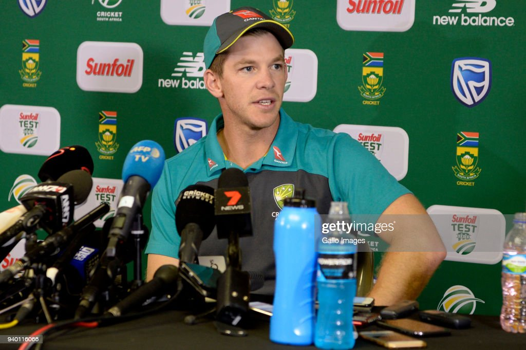 Tim Paine of Australia during day 1 of the 4th Sunfoil Test match between South Africa and Australia at Bidvest Wanderers Stadium on March 30, 2018 in Johannesburg, South Africa.