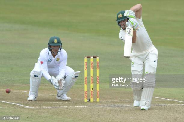 Tim Paine of Australia during day 2 of the 1st Sunfoil Test match between South Africa and Australia at Sahara Stadium Kingsmead on March 02 2018 in...