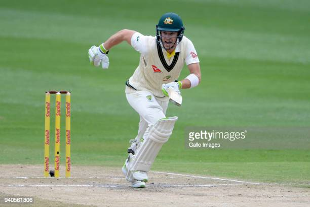 Tim Paine of Australia during day 3 of the 4th Sunfoil Test match between South Africa and Australia at Bidvest Wanderers Stadium on April 01 2018 in...