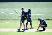 adelaide australia tim paine australia inspects