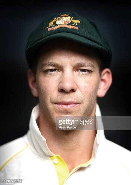 Tim Paine of Australia poses during a Portrait Session Session on September 27 2018 in Dubai United Arab Emirates