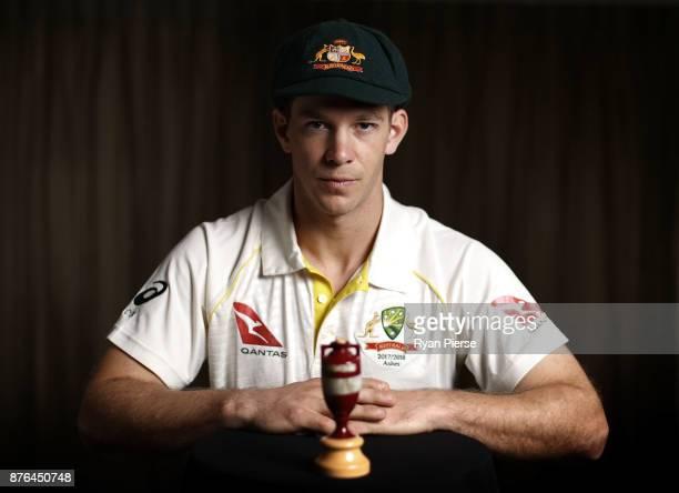 Tim Paine of Australia poses during the Australia Test cricket team portrait session on November 20 2017 in Brisbane Australia