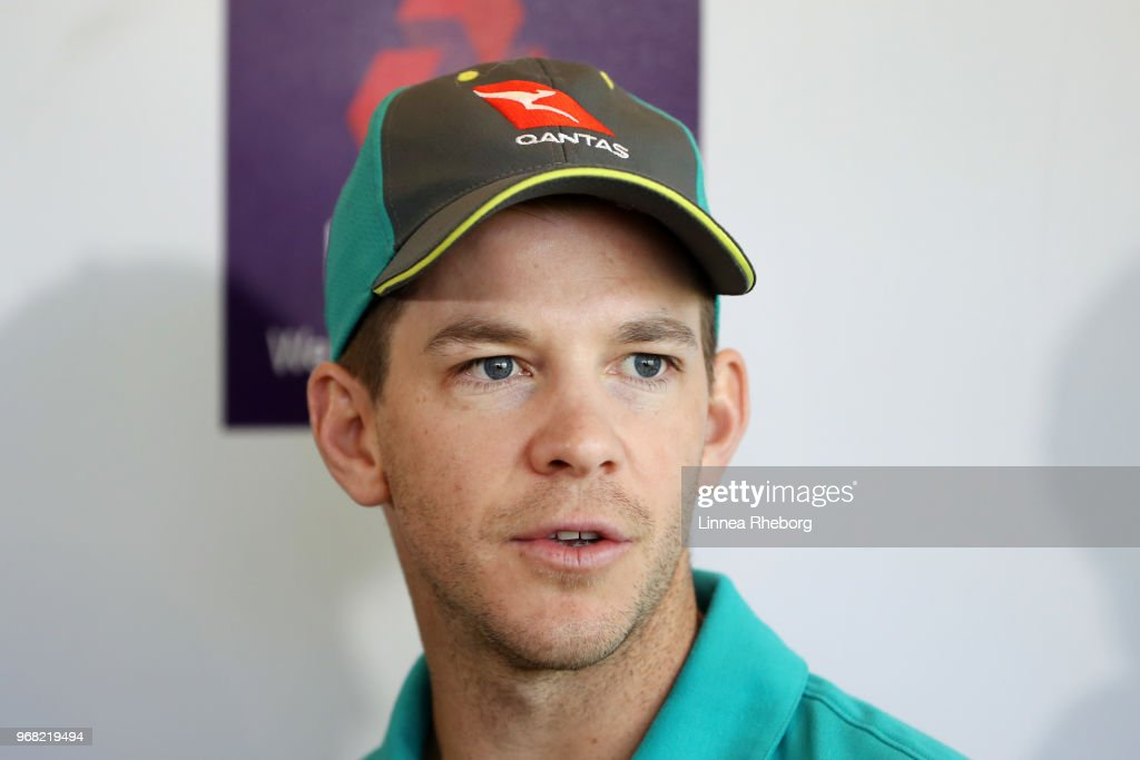 Tim Paine of Australia speaks to the media during a press conference at Lord's Cricket Ground on June 6, 2018 in London, England.