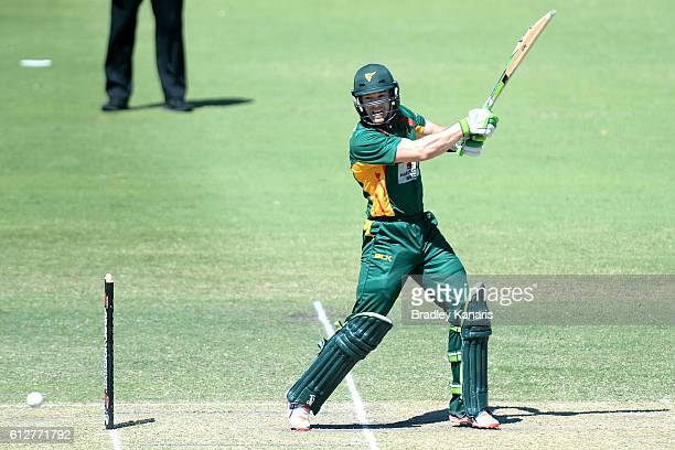 Tim Paine of Tasmania bats during the Matador BBQs One Day Cup match between Tasmania and the Cricket Australia XI at Allan Border Field on October 5...
