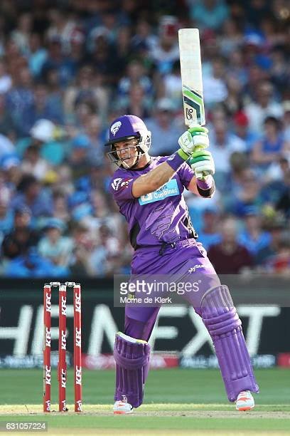 Tim Paine of the Hobart Hurricanes bats during the Big Bash League match between the Adelaide Strikers and the Hobart Hurricanes at Adelaide Oval on...