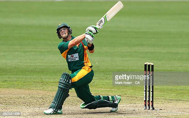 Tim Paine of the Tigers bats during the Matador BBQs One Day Cup match between South Australia and Tasmania at Blacktown International Sportspark on...