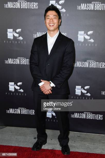 """Tim Park attends the premiere of """"The Mason Brothers"""" at the Egyptian Theatre on April 11, 2017 in Hollywood, California."""