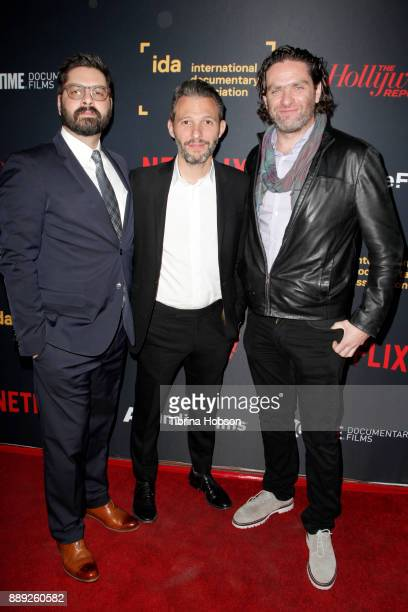 Tim Pastore Justin Wilkes and Everardo Gout at the 33rd Annual IDA Documentary Awards at Paramount Theatre on December 9 2017 in Los Angeles...