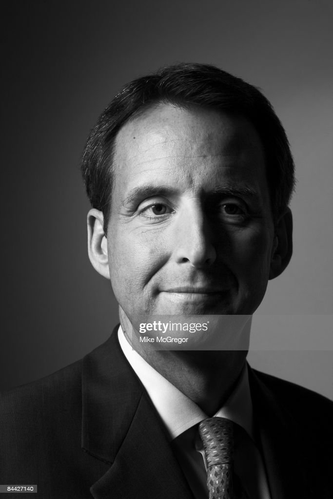Tim Pawlenty, Governor of Minnesota, poses at a portrait session for Minnesota Monthly Magazine. Published image.