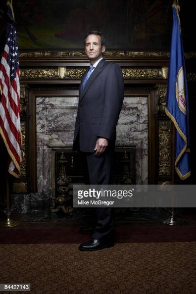 Tim Pawlenty Governor of Minnesota poses at a portrait session for Minnesota Monthly Magazine Published image