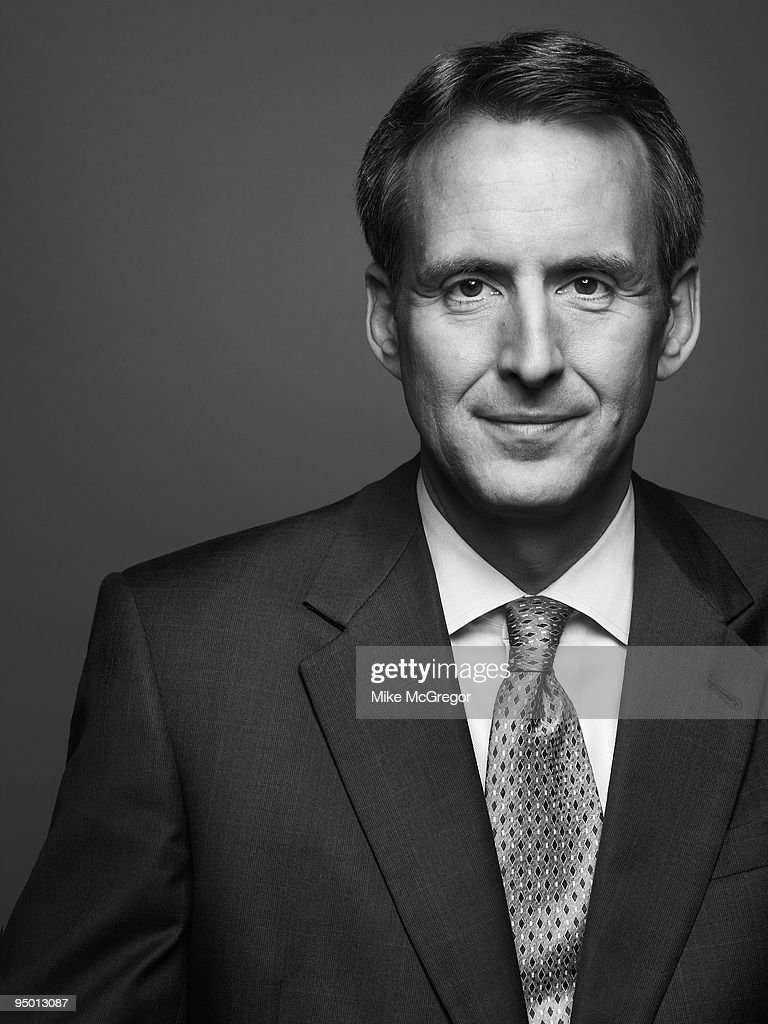 Tim Pawlenty, Governor of Minnesota, poses at a portrait session for Minnesota Monthly Magazine.