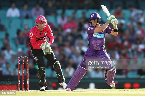 Tim Payne of the Hurricanes bats during the Big Bash League match between the Sydney Sixers and Hobart Hurricanes at Sydney Cricket Ground on...