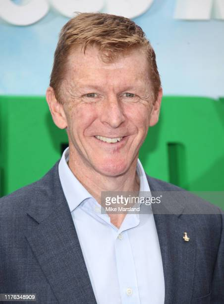 """Tim Peake attends the """"Shaun The Sheep Movie: Farmageddon"""" UK Premiere at Odeon Luxe Leicester Square on September 22, 2019 in London, England."""