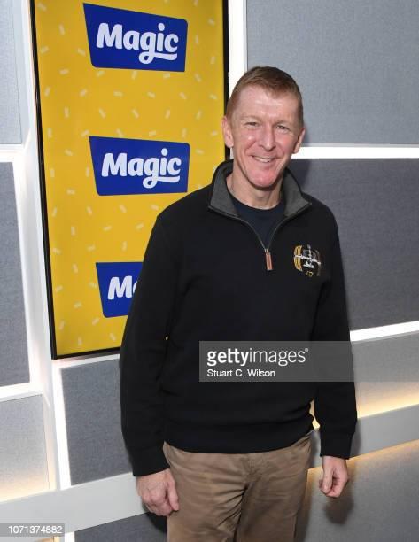 Tim Peake visits Magic Radio on November 23, 2018 in London, England.