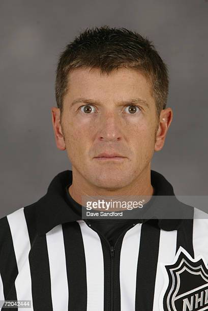 Tim Peel poses for a portrait during the NHL Officials Camp in Fort Erie Ontario Canada on September 9 2006