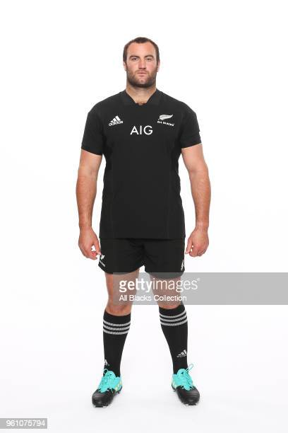 Tim Perry poses during a New Zealand All Blacks headshots session on May 21 2018 in Auckland New Zealand