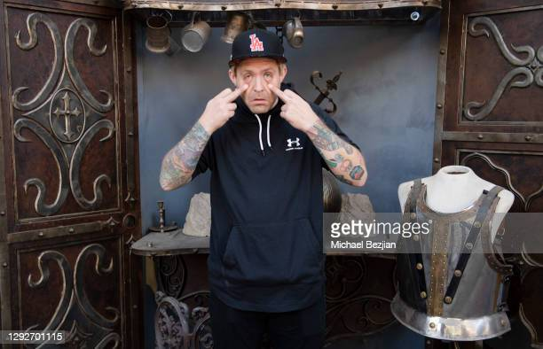 Tim Peugh poses for portrait at Conejo and Friends Visit TAP Studios on December 21, 2020 in Los Angeles, California.