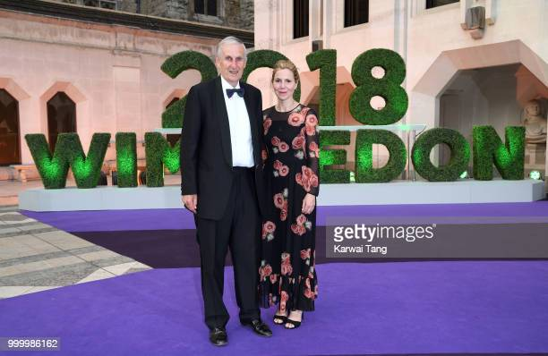 Tim Phillips and Sally Phillips attend the Wimbledon Champions Dinner at The Guildhall on July 15 2018 in London England