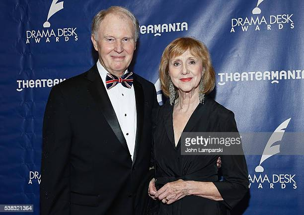 Tim Pigott Smith and Pamela Miles attend 2016 Drama Desk Awards at Anita's Way on June 5 2016 in New York City