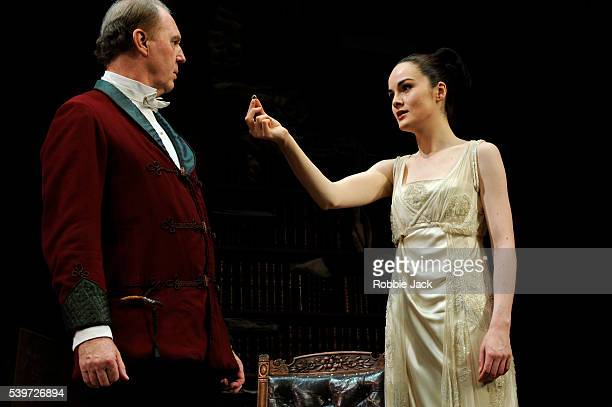 Tim PigottSmith and Michelle Dockery perform in the production of Bernard Shaw's play Pygmalion at the Old Vic Theatre in London