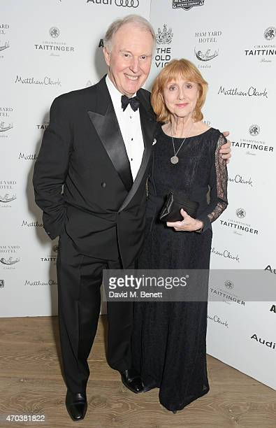 Tim PigottSmith and Pamela Miles arrive at Ham Yard Hotel for the After Party of The Old Vic's A Gala Celebration in Honour of Kevin Spacey on April...