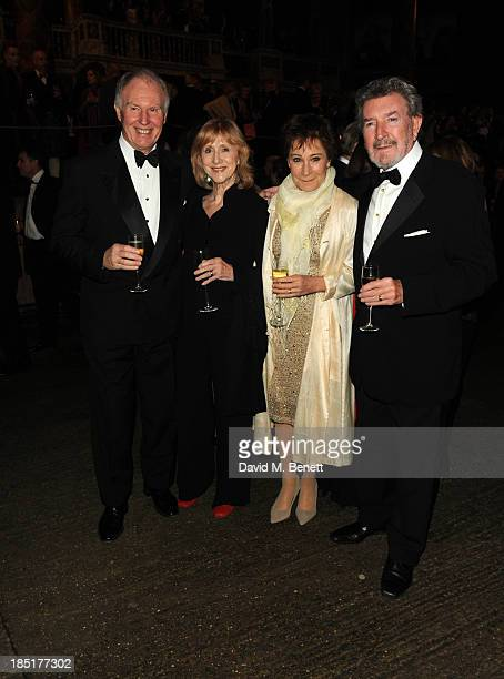 Tim PigottSmith Pamela Miles Zoe Wanamaker and Gawn Grainger arrive at the Shakespeare's Globe Gala Dinner hosted by Zoe Wanamaker on October 17 2013...