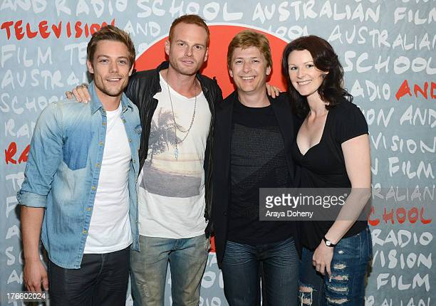 Tim Pocock Martin Copping Johan Earl and Denai Gracie attend the Australians In Film screening of Battle Ground on August 15 2013 in Los Angeles...