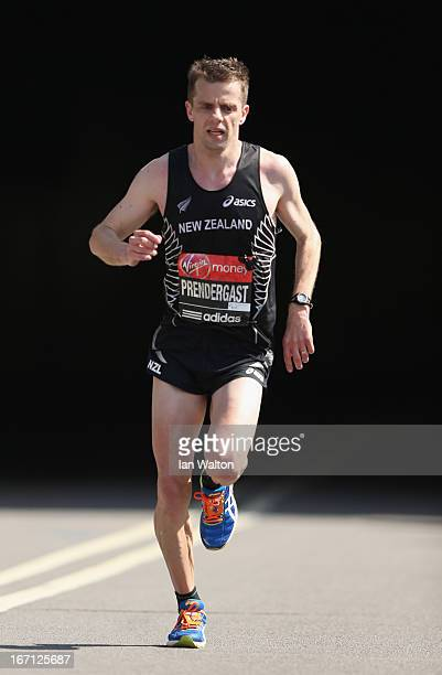 Tim Prendergast of New Zealand in action in the Mens section during the Virgin London Marathon 2013 on April 21 2013 in London England