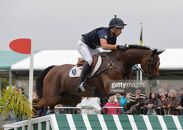 Tim Price of New Zealand riding Ringwood Sky Boy during the Cross Country during The Land Rover Burghley Horse Trials 2016 on September 3 2015 in...