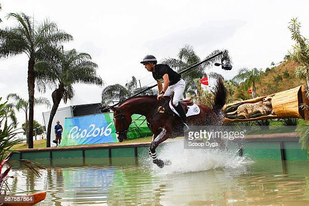 Tim PRICE RINGWOOD SKY BOY during the Cross Country Event on Day 3 on Olympic Games 2016 at Olympic Equestrian Centre on August 9 2016 in Rio de...