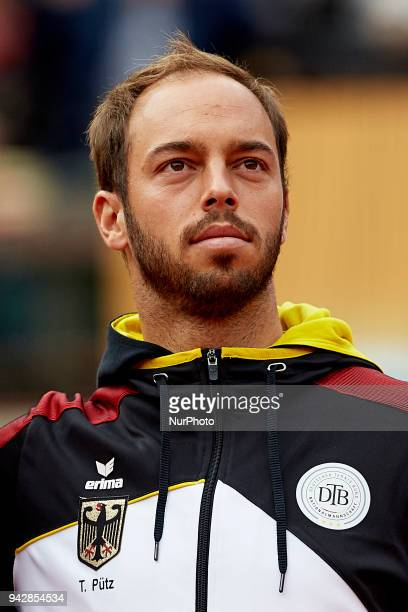 Tim Putz of Germany looks on during the opening ceremony prior to day one of the Davis Cup World Group Quarter Finals match between Spain and Germany...