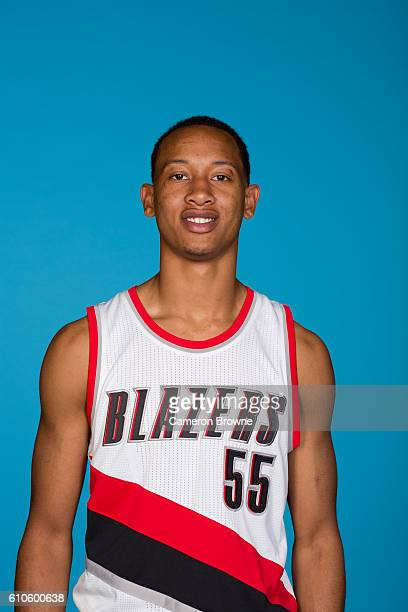Tim Quarterman of the Portland Trail Blazers poses for a headshot during the 20162017 Portland Trail Blazers media day on September 26 2016 at the...