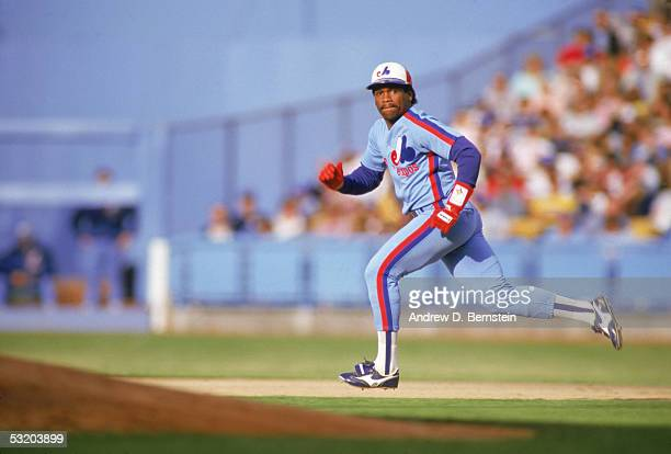 Tim Raines of the Montreal Expos sprints to a second base during a 1987 season game Tim Raines played for the Montreal Expos from 19791990