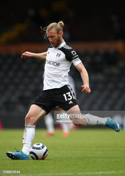 Tim Ream of Fulham during the Premier League match between Fulham and Newcastle United at Craven Cottage on May 23, 2021 in London, United Kingdom.