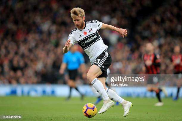 Tim Ream of Fulham during the Premier League match between Fulham FC and AFC Bournemouth at Craven Cottage on October 27 2018 in London United Kingdom