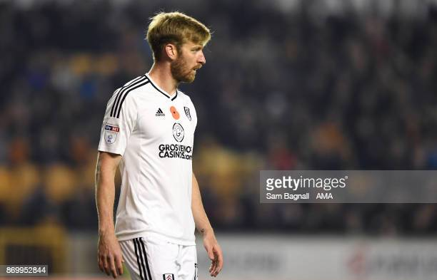 Tim Ream of Fulham during the Sky Bet Championship match between Wolverhampton and Fulham at Molineux on November 3 2017 in Wolverhampton England