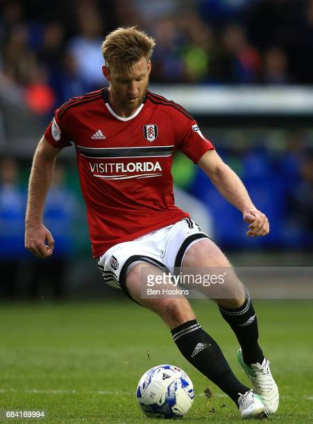 Tim Ream of Fulham in action during the Sky Bet Championship Play Off Second Leg match between Reading and Fulham at Madejski Stadium on May 16 2017...