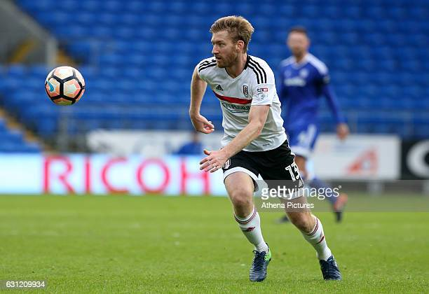 Tim Ream of Fulham in action during the The Emirates FA Cup 3rd Round match between Cardiff City and Fulham at The Cardiff City Stadium on January 08...