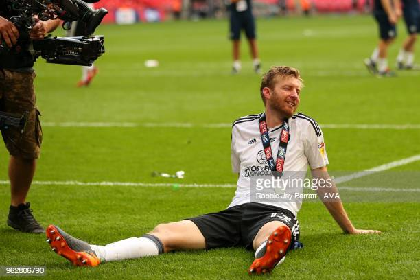 Tim Ream of Fulham reacts during the Sky Bet Championship Play Off Final between Aston Villa and Fulham at Wembley Stadium on May 26 2018 in London...