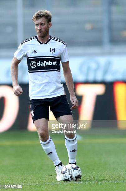 Tim Ream of Fulham runs with the ball during the final match between AC Florenz and FC Fulham at SchauinslandReisenArena on July 28 2018 in Duisburg...