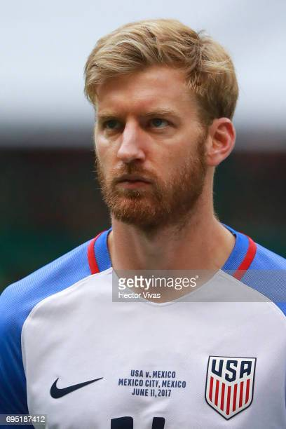 Tim Ream of United States during the match between Mexico and The United States as part of the FIFA 2018 World Cup Qualifiers at Azteca Stadium on...