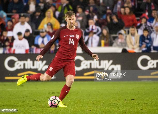 Tim Ream of United States during the World Cup Qualifier match between the United States and Honduras at Avaya Stadium on March 24 2017 in San Jose...
