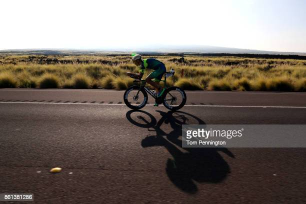 Tim Reed of Australia competes on the bike during the IRONMAN World Championship on October 14 2017 in Kailua Kona Hawaii