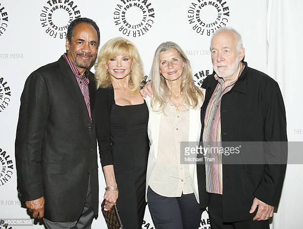Tim Reid Loni Anderson Jan Smithers and Howard Hesseman arrive at the Baby If You've Ever Wondered A WKRP In Cincinnati reunion held at The Paley...